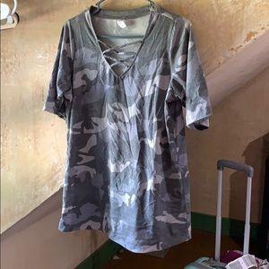 Tops - NWT Gray Camo T-shirt